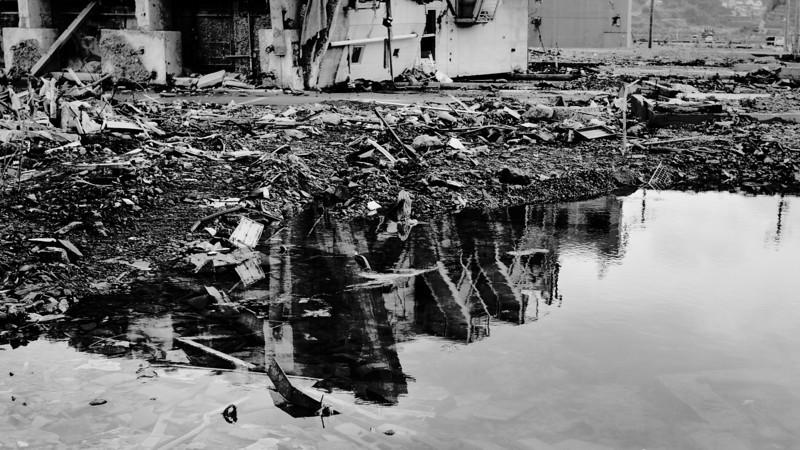 Five months after the tragic Tsunami hit the region - Onagawa, Miyagi, Japan, August 2011