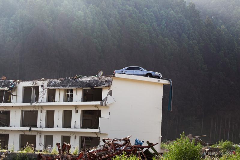 Five months after the tragic Tsunami hit the region - Shizugawa, Miyagi, Japan, August 2011