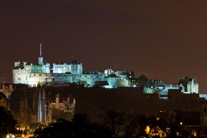 edinburgh castle.  evidently at night.