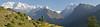 The Dhaulagiri Himal including Dhaulagiri VI, IV, V, III, II, and I from Machhim.