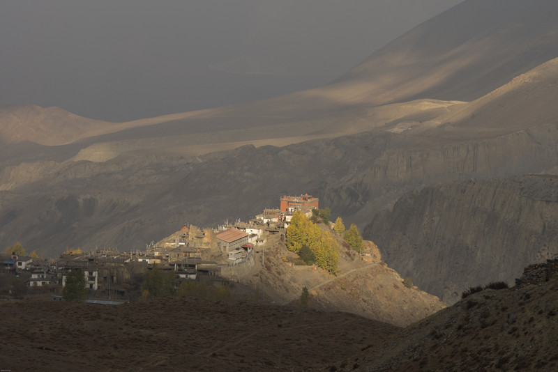Jharkot catches the morning light.