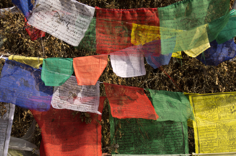Prayer flags in the Muktinath Temple complex