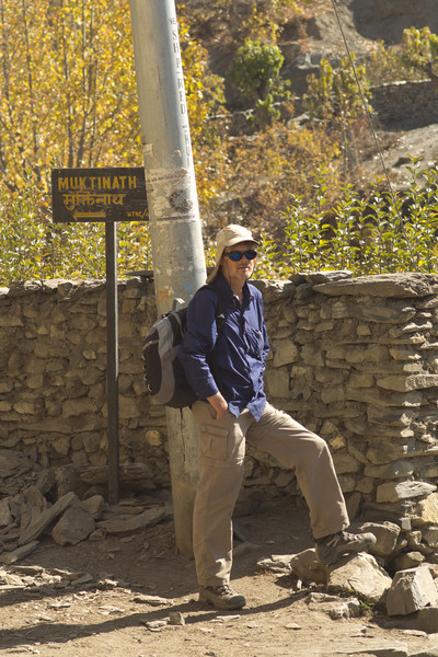 Jim just outside Muktinath (Go the other way, Jim)