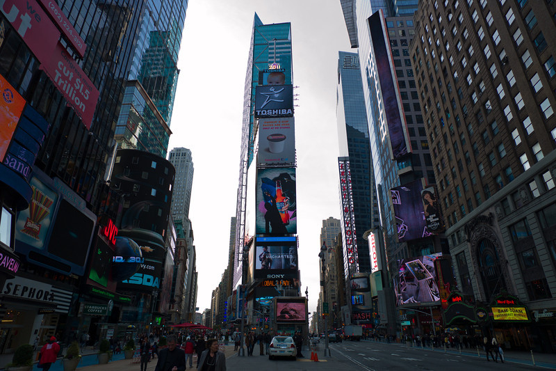 """Started out headed for the """"Top of the Rock"""" at Rockefeller Plaza. walking from the subway took us through the heart of Times Square."""