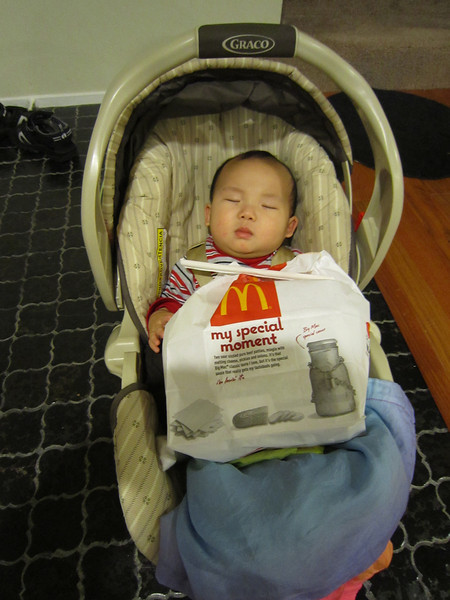 I mean seriously.  A big mac, fries, McRibs, 10 nuggets for him?  Yeesh.