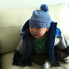 This was Harrison's winter outfit.  He, of course, is not so thrilled with the hat.  Alas it was chilly.