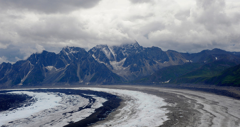 MOUNTAINS: The Ruth glacier abutting the Dinali mountains.