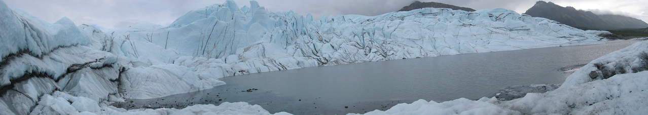 GLACIERS: Panoramic view of the Matanuska glacier.