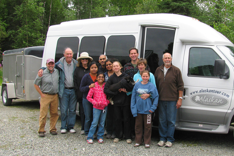 THE END: Our delightful traveling companions on the trip including Bob the driver and guide on the right.  The fellow on the left is Vern Halter, a veteran Iditarod musher who runs the Dream-a-dream kennel and training school.
