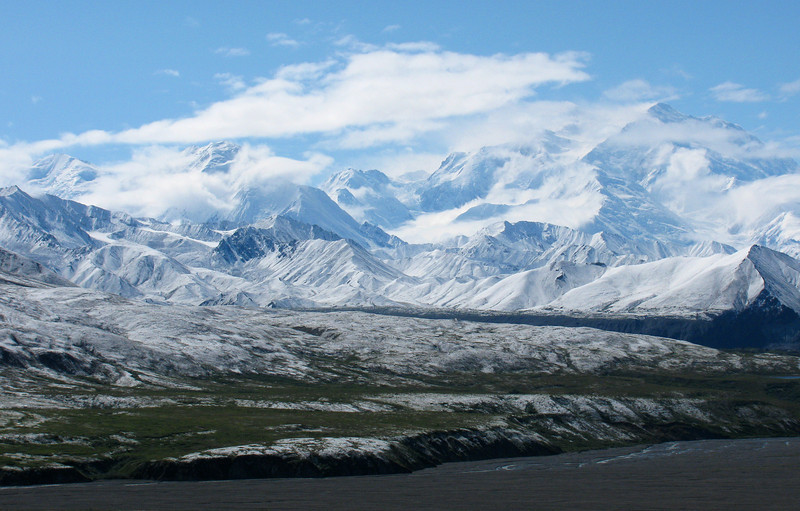 MOUNTAINS: A closer view of Mount McKinley/Denali (Judith's photo).