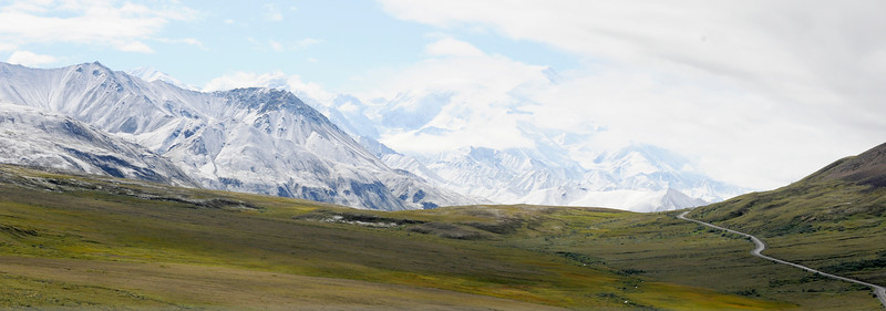 MOUNTAINS: Our first view of Mount McKinley (the locals call it Mount Denali).
