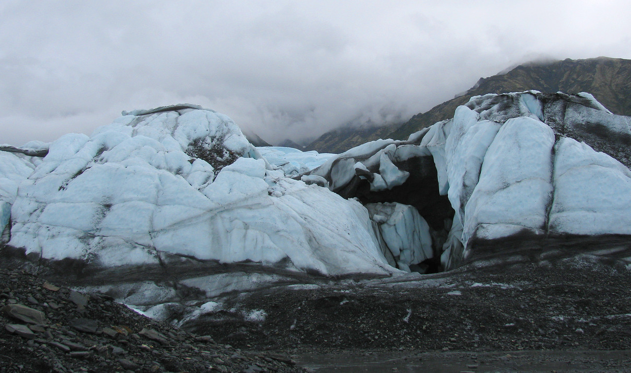 GLACIERS: A closer view of the Matanuska glacier.