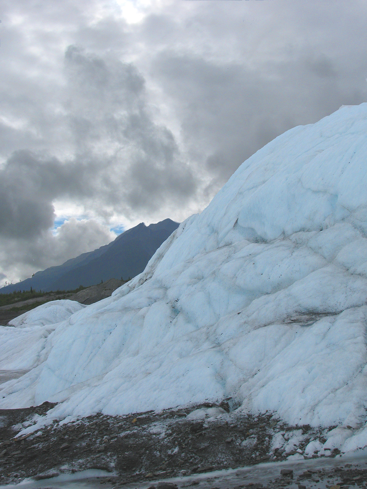GLACIERS: Edge of the Matanuska glacier.