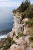 The high cliffs.