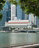 Across the bay, downtown, the historic Fullerton Hotel, once the General Post Office building.  Not inexpensive.