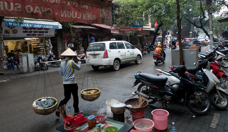 A typical day on Lo Su street, the street on which our small hotel was located.