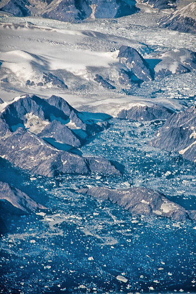 FLYING HOME - GREENLAND FROM 35,000 FT.