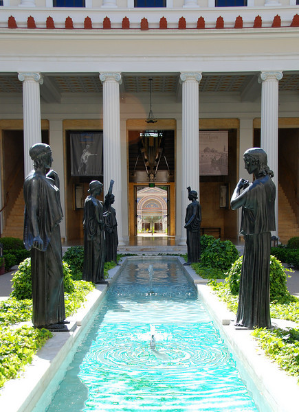 The inner courtyard of the Getty Villa in Malibu.