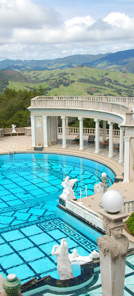 Another view of the Hearst Castle outdoor pool.