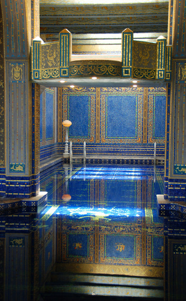 An indoor pool at the Hearst Castle.