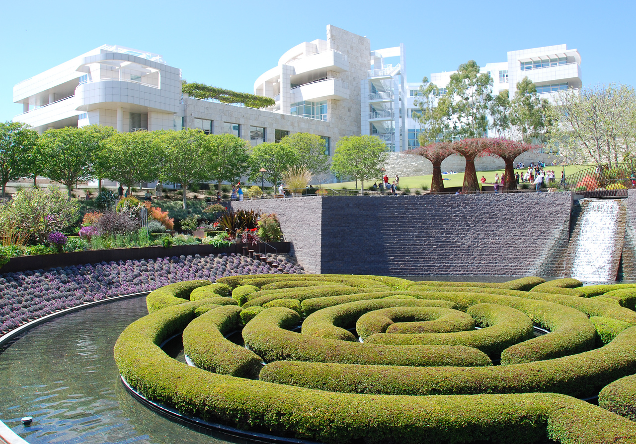 Overview of the Getty Center in LA.
