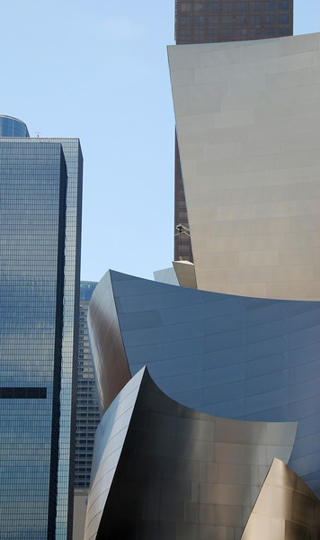 Partial view of Disney Concert Hall in LA.