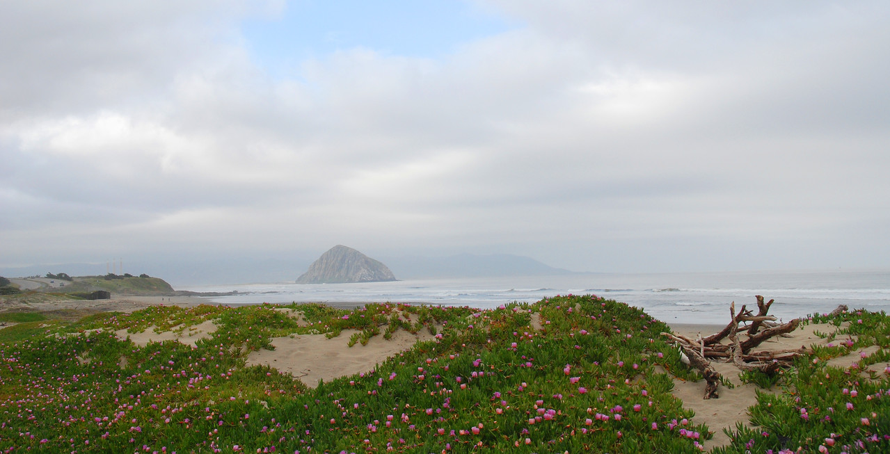 A view of Moro Rock at Moro Bay near San Luis Obispo.