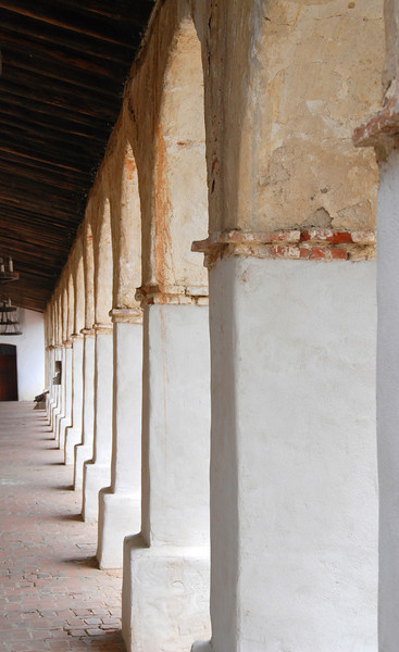Columns of the spanish mission in San Miguel.