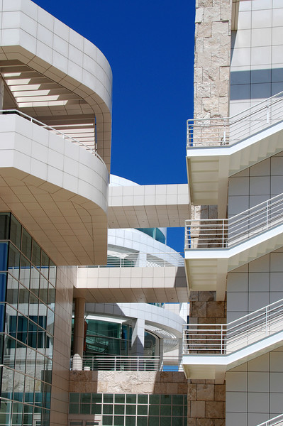 Architecture of the Getty Center.