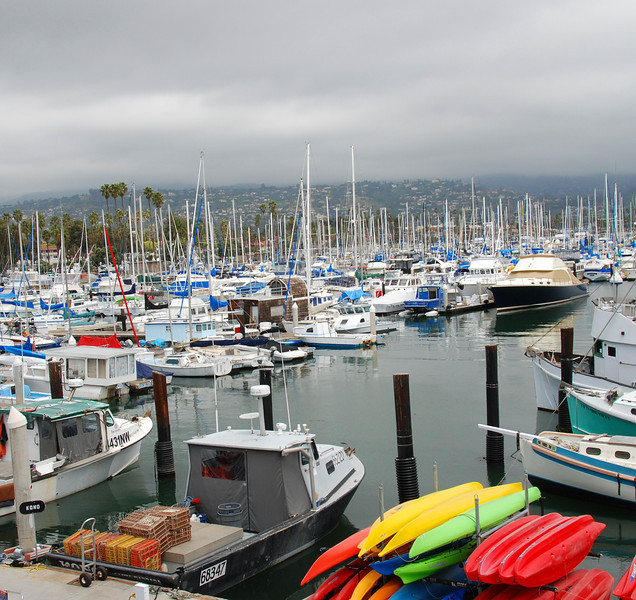 The Santa Barbara marina.