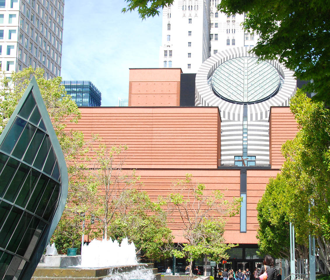 Outside view of the San Francisco Museum of Modern Art - notice the round skylight.