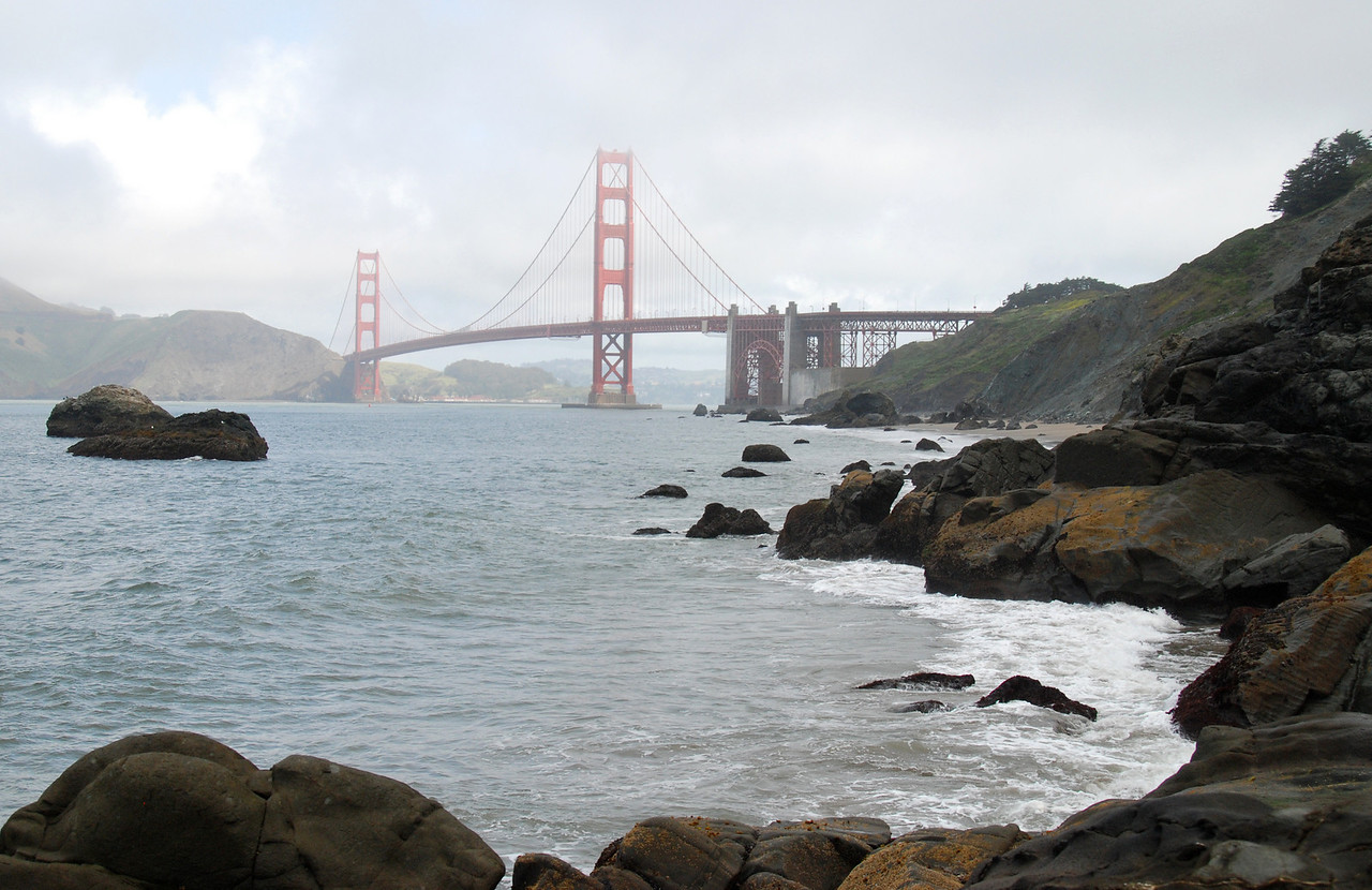 The most photographed bridge in America - the Golden Gate in San Francisco.