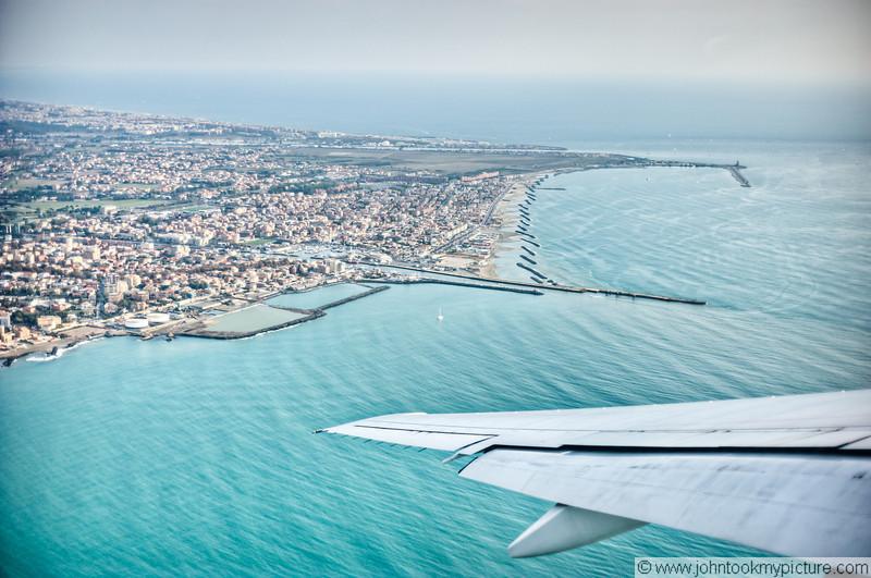 30 OCT 2011 - John's Emirates flight from Rome to Dubai.