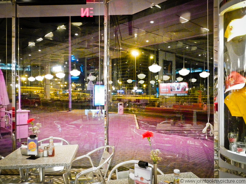 1 NOV 2011 - Standing in a Johnny Rockets in the middle east at 1 in the morning.... I don't know anyone around for thousands of miles... and I'm EXACTLY where I'm supposed to be.  Crazy unreal insane :)