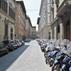 Parking was tough in Florence even for scooters
