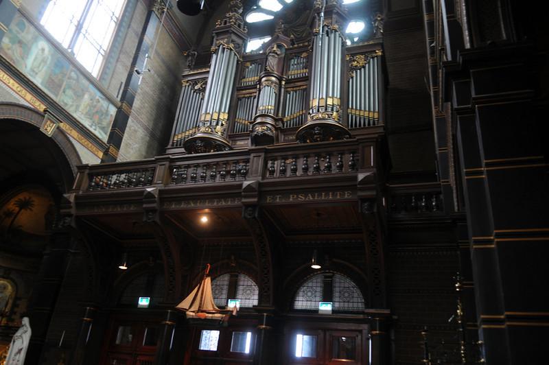 Pipe Organ in Amsterdam Church.