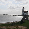 A view of the Marken lighthouse.