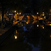 An Alkmaar canal at night.