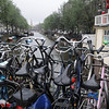 Bike parking space in Amsterdam is at a premium.
