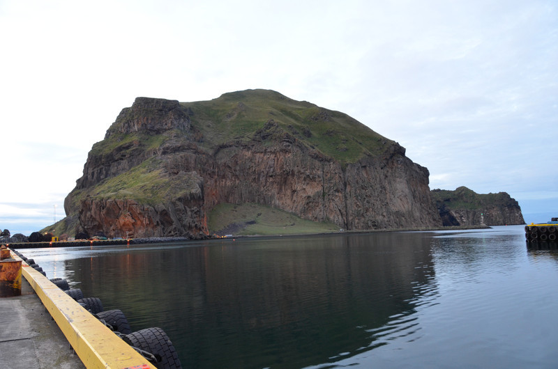The rock on Home Island. Looking at it from the dock.