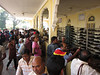 The shoe check at the Mysore Palace