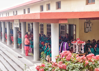 Primary school at the Japanese temple in Bodhgaya