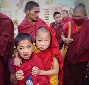 Monks in training, Bodhgaya