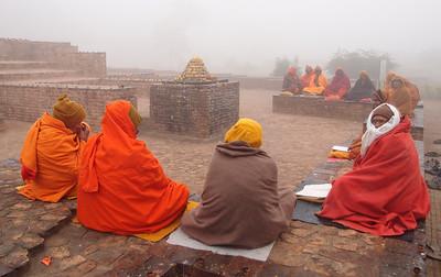 Monks chanting at Sravasti