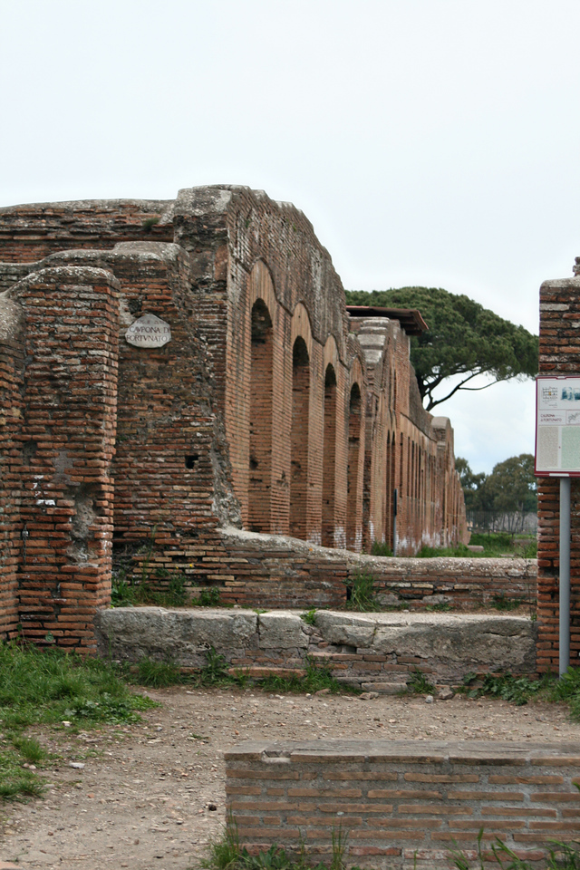 April 14, 2011 Ostia a port city of Italy, city at the mouth of the Tiber River.  The city ruins