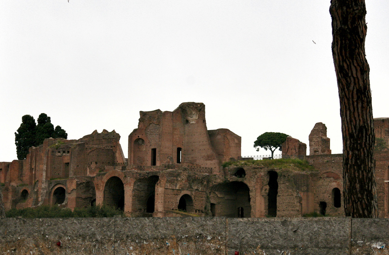 April 14, 2011 Rome, Italy ruins of the Palatine hill.
