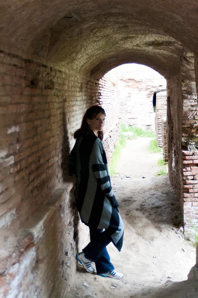 ruins in Ostia