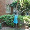Dancer statue in our courtyard...
