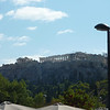 Approaching Acropolis from the north side, after getting off at the Thissio metro station.
