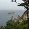 A (rainy) view from the Monastery, in the Corfu area.     <br /> <br /> The name Corfu comes from the Nymph Korkira, daughter of the Assopos River. According to Greek Mythology, <br /> Poseidon, god of the sea, fell in love with the nymph, kidnapped her and brought her on the island.